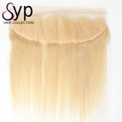 613 Transparent Lace Frontal 13x4 Blonde Brazilian Straight Hair