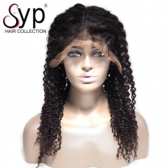 Cheap Lace Front Wig 360 Frontal Curly Human Hair 180 Density