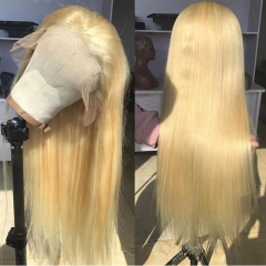 613 Blonde Full Lace Wigs With Baby Hair Straight Virgin Hair For Sale
