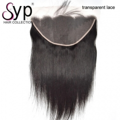 Transparent Swiss Lace Frontal 13x6 Brazilian Virgin Hair Straight