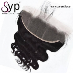 Swiss Transparent Lace Frontal 13x4 Body Wave Hair Ear To Ear