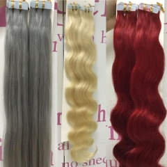 Best Quality Blonde Tape In Hair Extensions And Light Coloring