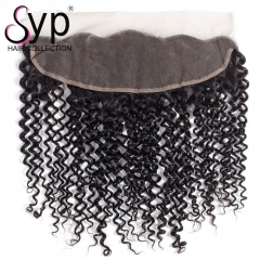 Pre Plucked Curly Lace Frontal Closure 13x4 Good Quality