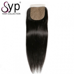 Best Free Part Silk Base Closure With Baby Hair Brazilian Straight