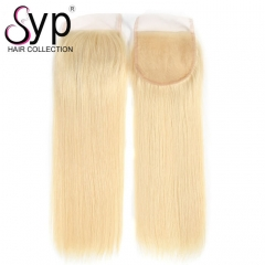 5x5 613 Lace Closure Blonde Brazilian Virgin Hair Straight For Sale