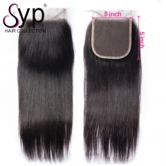 5x5 Swiss Lace Closure Wholesale Straight Hair Invisible Part