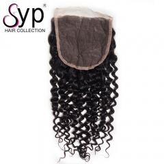 Deep Curly Lace Closure Pieces 5x5 Cheap Brazilian Human Hair