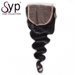 Pre Plucked Lace Top Closure Hair Piece 5x5 Loose Wave Natural Part