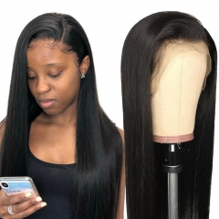 Silky Straight Full Lace Wigs With Baby Hair Natural Looking Hairline
