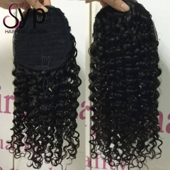 Curly Ponytail Hairpiece Best Quality 100 Human Hair For Sale