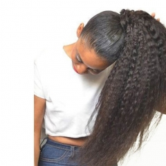 Kinky Straight Drawstring Ponytail Extension 100 Real Human Hair