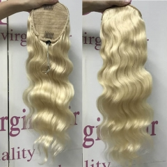 613 Blonde Drawstring Ponytail Hairpiece Body Wave Styles For Prom