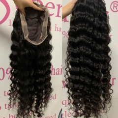 Cheap Transparent Full Lace Wigs Wholesale Wavy Human Hair 180%