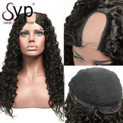 Brazilian Deep Wave U Part Lace Front Wig Wet And Wavy Human Hair