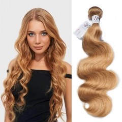 Color 27 Human Hair Piece Extensions Body Wave On Dark Skin