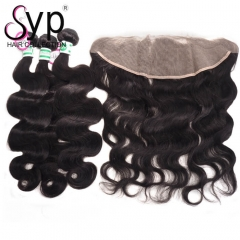 13x4 Lace Frontal Closure With 3 Bundle Deals Affordable Brazilian Body Wave Hair