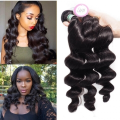 Great Remy Virgin Brazilian Loose Wave Bundle Hair Extensions for Fine Hair