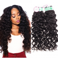 Double Drawn Brazilian Weft Hair Extensions Italian Curly Hair