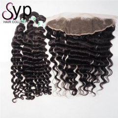 Cheap Wholesale 3 Bundles Of Brazilian Hair Weave With Frontal
