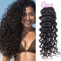 3 4 Bundles of Peruvian Human Hair Weft Italian Curly for Full Head