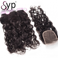 Peruvian Water Wave Bundles With Closure Best Wavy Hair Extensions