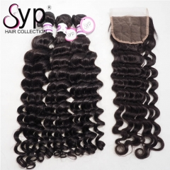 Cheap Bundle Deals With Closure Dropshipping Hair Extension Vendor
