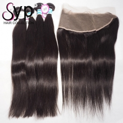 Top Malaysian Straight Hair Bundles With Frontal Real Virgin Hair