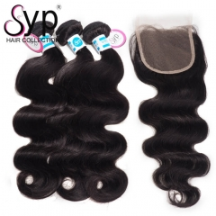 Unprocessed Malaysian Body Wave Hair Bundles With Closure Suppliers