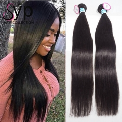 3 Bundles of Malaysian Straight Human Hair Weave Sew In For Sale