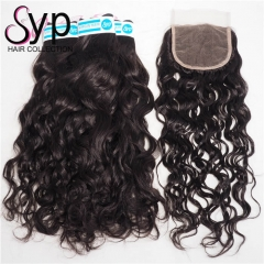 Malaysian Water Wave With Closure Cheap Human Hair Weave Brands