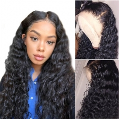 Discount 100 Human Hair Lace Front Wigs Wet And Wavy Deep Wave