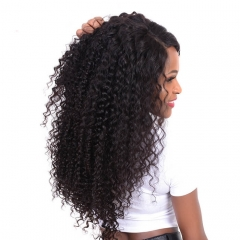 Remy Long Curly Lace Front Wigs Human Hair For African American