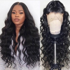 Black Lace Front Wigs Cheap Real Hair Loose Wave For Sale