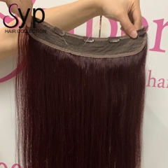 Invisible Best Halo Human Hair Extensions Near Me For Short Hair