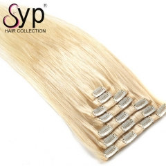 Best 613 Honey Blonde Clip In Hair Extensions Human Hair Straight