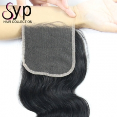 Cheap HD Swiss Lace Closure 4x4 Body Wave Hair Side Middle Part
