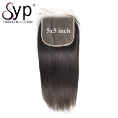 Best Transparent Lace Closure 5x5 Straight Hair Bleaching Knots