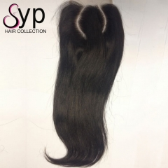 Curved 2 Part Lace Closure Customize Lace Weave Closure Cheap